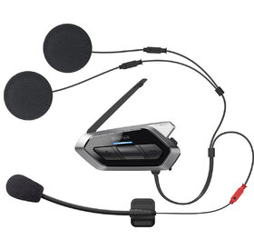 50R Low Profile Motorcycle Bluetooth Communication System with Mesh Intercom Dual Pack